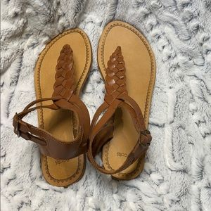Ecote Urban outfitters leather thong sandal sz 8